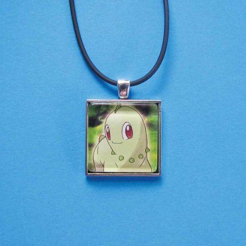 Pokemon Pendant - Chikorita only $8 @ OMG! Cute Kitten - Australian Handmade Jewellery