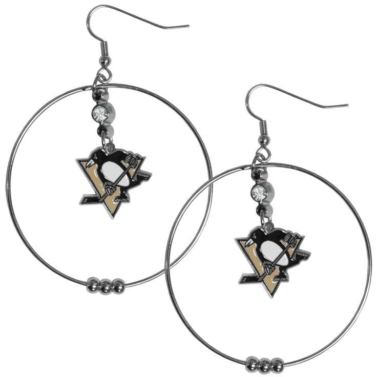 Siskiyou NHL Pittsburgh Penguins 2-inch Hoop Earrings