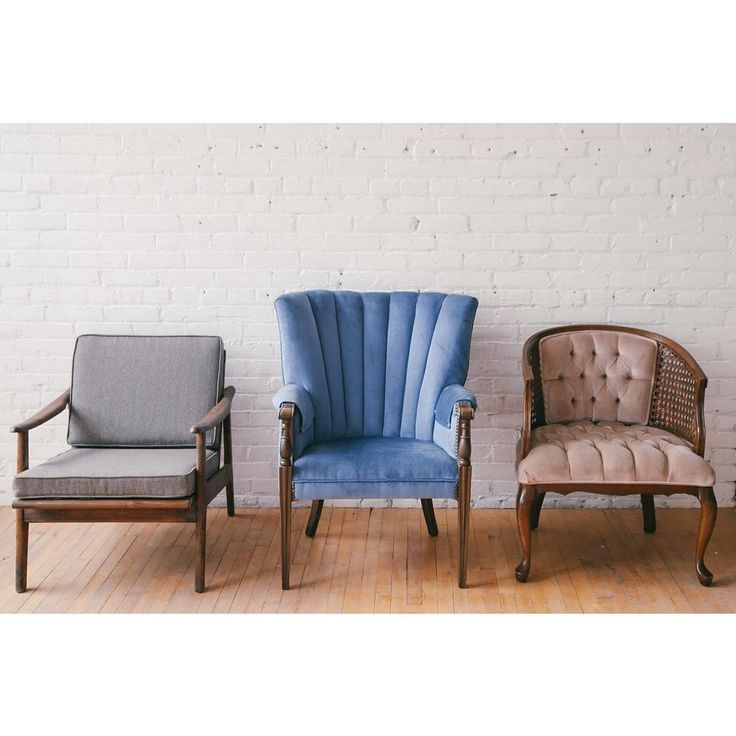 The usual suspects. Mid century modern, vintage wingback and tufted pink with rattan accent chairs are part of the Neat Rentals line-up.