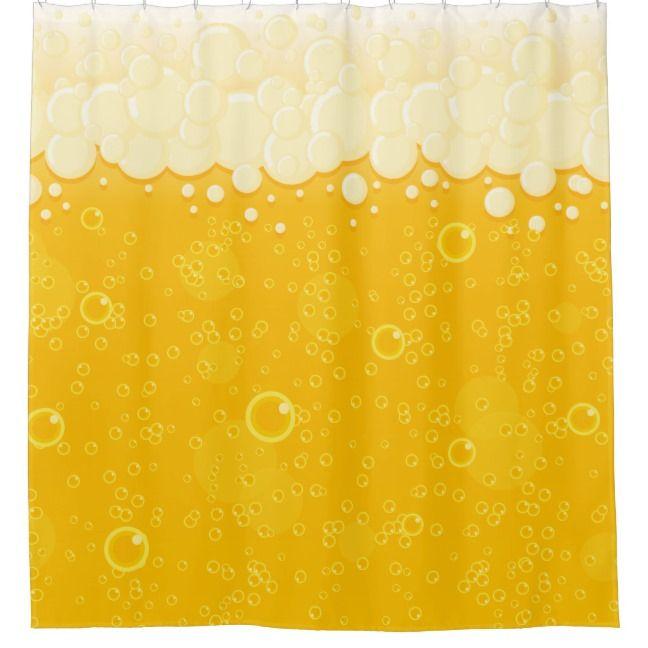 Beer Bubbles Shower Curtain Zazzle Com Curtains Custom