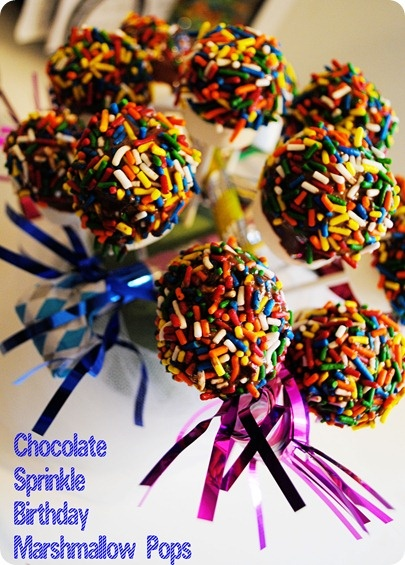 Easie Peasie: Wednesday Toddler Activities: Chocolate Sprinkle Birthday Marshmallow Pops