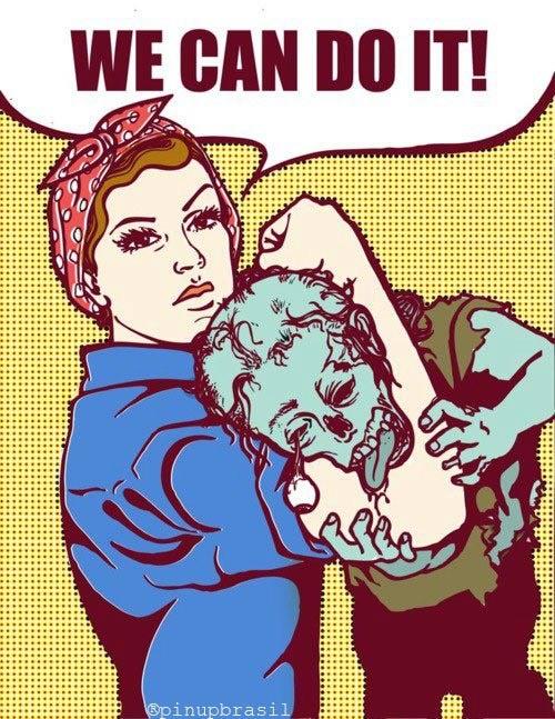 Parody of Rosie the Riveter