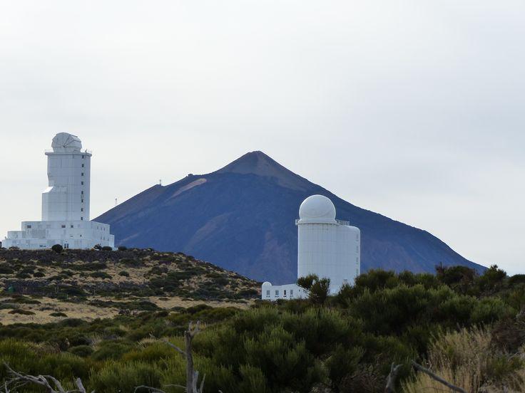 El teide, la station d'observation des étoiles
