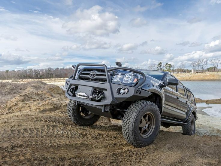 We give our 2008 Toyota Tacoma a much needed facelift with one heavy-duty winch front bumper.