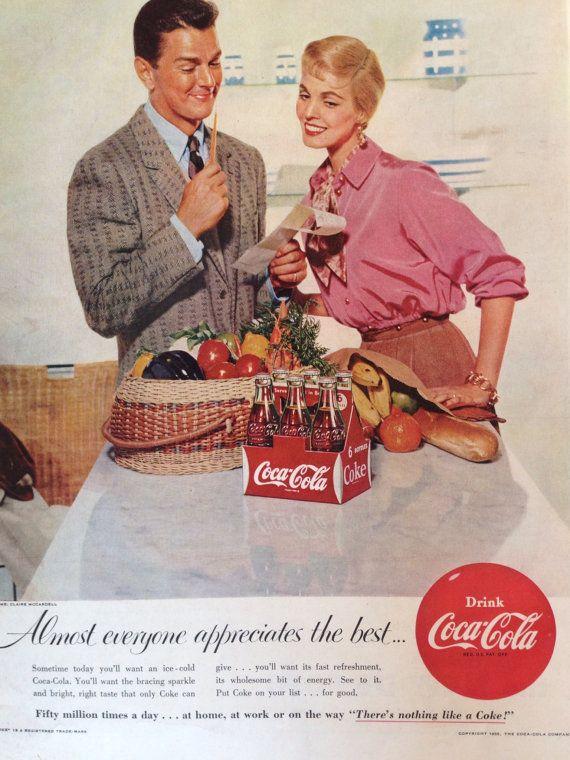 Vintage 1955 CocaCola Ad Paper Ephemera taken by TheVintageEmpress, $6.00