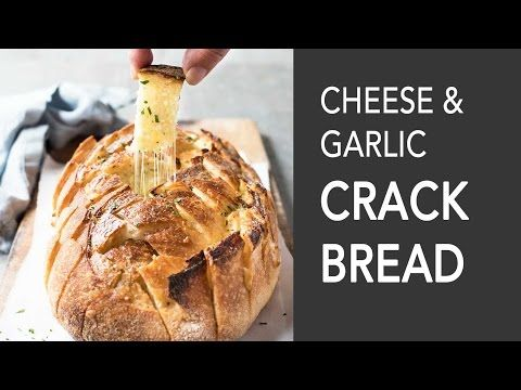 Cheese & Garlic Crack Bread - YouTube