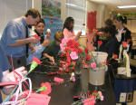 National Junior Honor Society members at de Zavala Middle School conducted a Valentine's Day fundraiser in February.