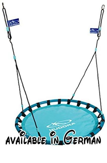HUDORA - Nestschaukel Alu 120, türkis. Achtung: Nur für den Hausgebrauch. Nur unter direkter Aufsicht von Erwachsenen benutzen! Nicht für Kinder unter 36 Monaten geeignet wegen langer Schnüre. Strangulationsgefahr! Absturzgefahr!Achtung: Für den Außen- und Innenbereich geeignet.. Nestschaukel Alu 120, türkis. Spielgeräte #Toy #TOYS_AND_GAMES