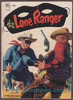 THE LONE RANGER #52 Dell WESTERN comic book 1952 GOLDEN AGE