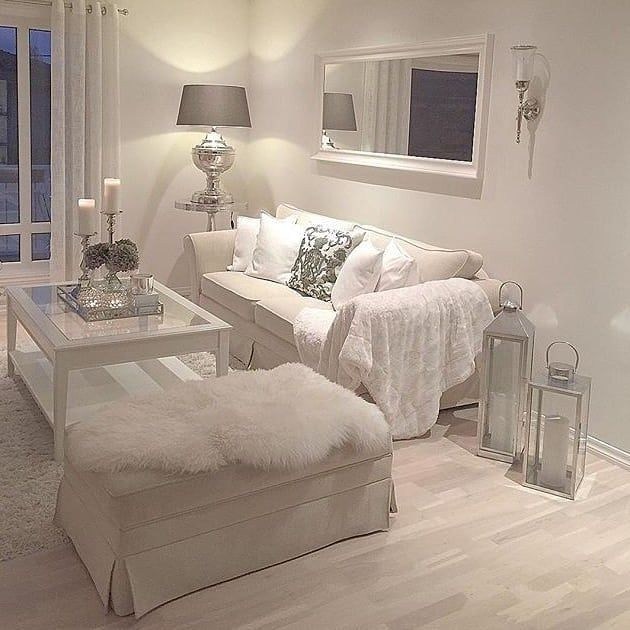 37 White And Silver Living Room Ideas, White Furniture Living Room Decorating Ideas