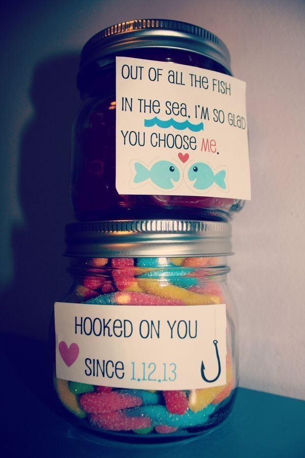 Hooked on You Candy Jars Boyfriend Gift