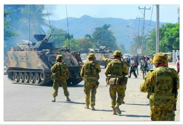 "25 May 2006. RAAF moves 3 RAR Battalion Group to Dili, Timor Leste ""OPERATION ASTUTE"" RAAF C-130, B-707 and AP-3C Aircraft involved."