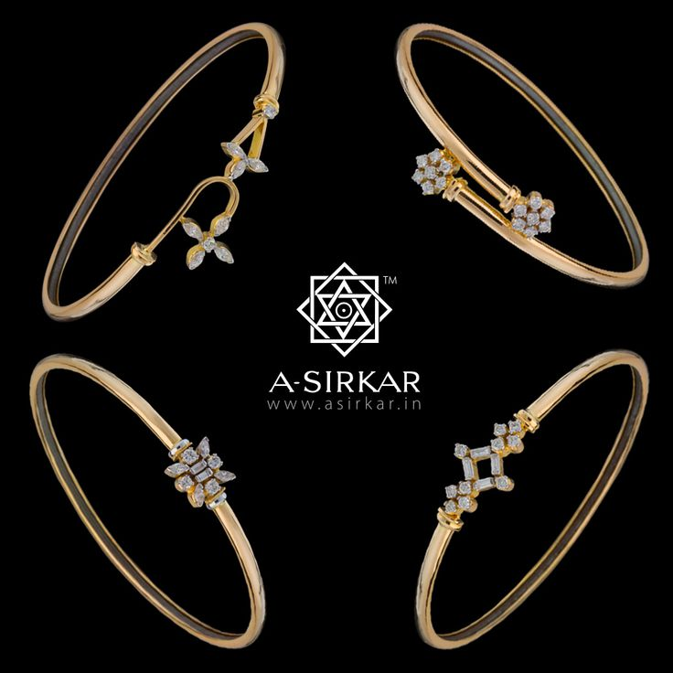 Unusual Diamond Lohas  It's the economy of design that creates the WOW! factor in these lohas ----- allowing for a perfect pairing of glitzy diamonds and pale yellow gold, without ever having to shout. Result : the most un-loha-like lohas in the world !!   Clockwise from top left :Diva ; Chanteuse ; Paragon ; Star