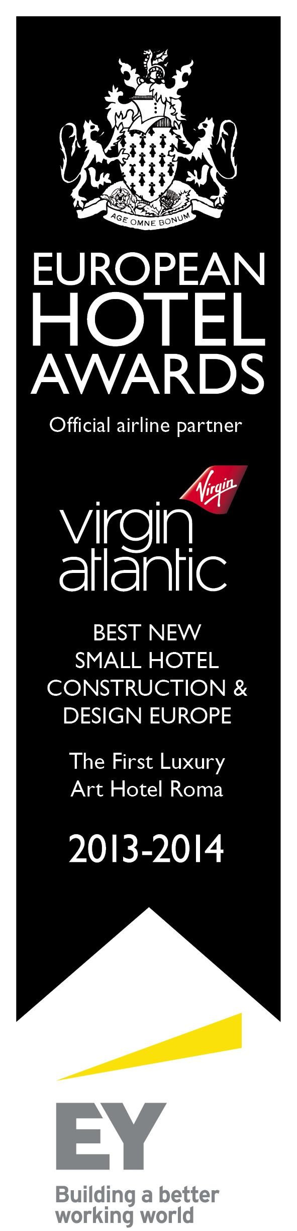 International Hotel Award 2013 - The First Luxury Art Hotel chosen as the Best Small Hotel Construction and Design in Europe