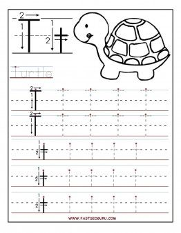 Free Printable letter T tracing worksheets for preschool.free connect the dots writing practice worksheets for 1st graders