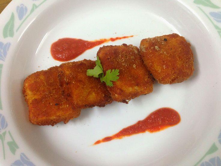 Jandhina's blog: Crumb Fried Paneer!