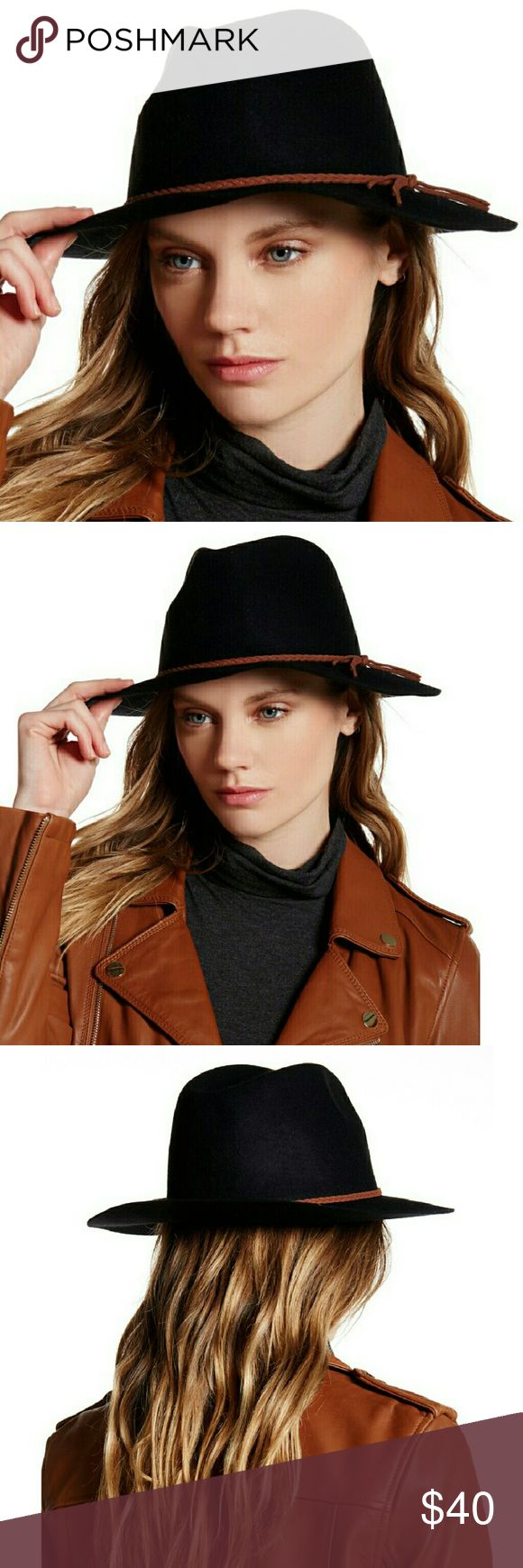 """🔴SALE OF THE SEASON!🔴 DAVID & YOUNG Twine Band Wool Fedora in black is new with tag! Features a dented crown with twine band and a wide floppy brim. Right on trend!   - Approx. 2.5"""" brim - 100% wool - Dry clean only  🚫No Trades 🙄😘  ✔FINAL PRICE 👈🤑 ❔Please Ask ?'s BEFORE you Buy🤔😃 ❤Thank you for stopping by! Happy Holidays!🎅🎄 Real Haute Trends  Accessories Hats"""