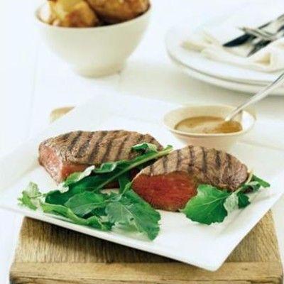 Taste Mag | Freerange steak with mustard sauce and fast-baked potatoes @ https://taste.co.za/recipes/freerange-steak-with-mustard-sauce-and-fast-baked-potatoes/