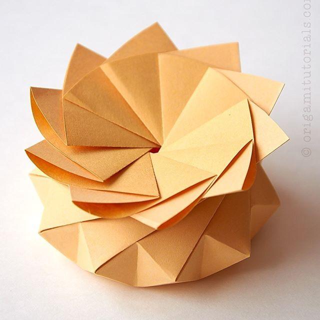 Origami Kawasaki Rose Box Tutorial - YouTube | Origami rose box ... | 640x640