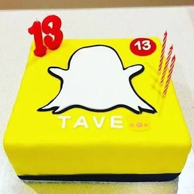 Bilderesultat for snap chat birthday cake
