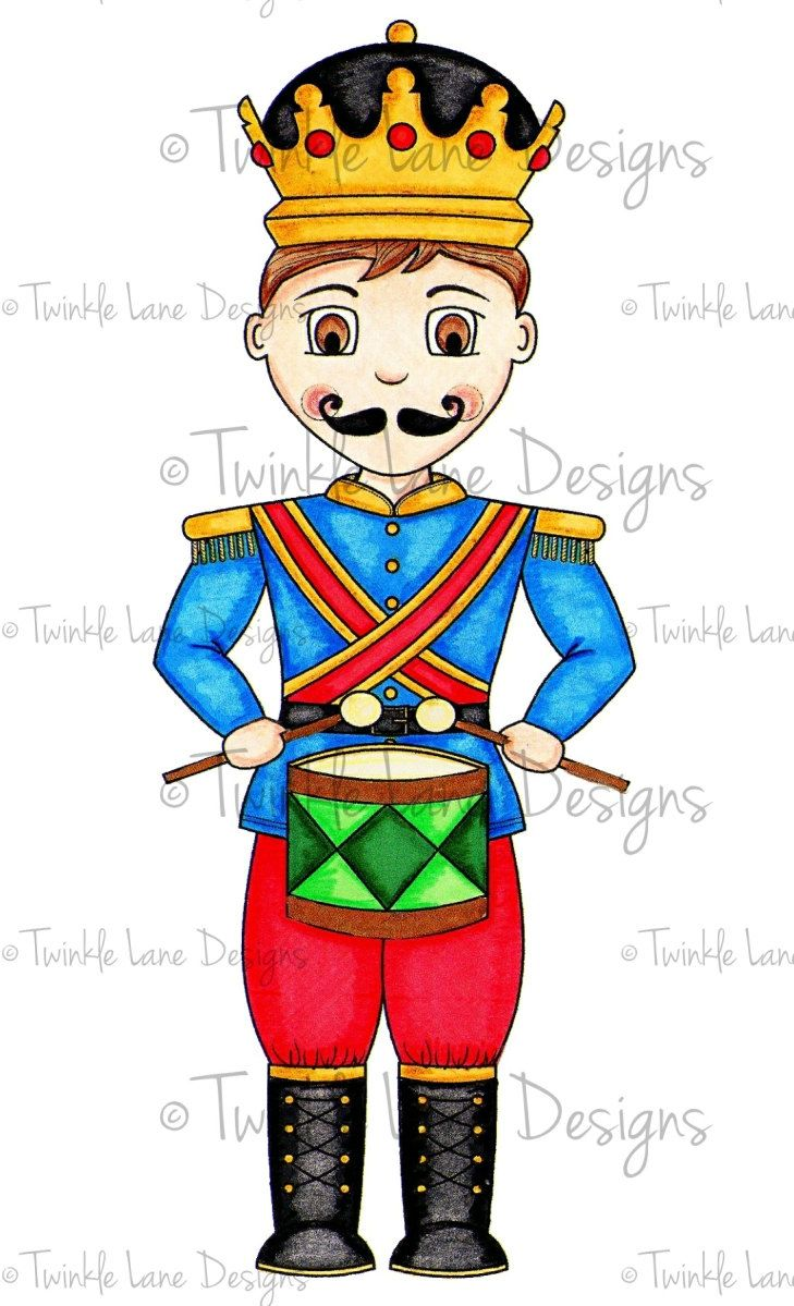 Little Drummer Boy Digital Clipart Digi Stamp Nutcracker Winter Soldier Papercraft Colouring Page For Him Printable Paper