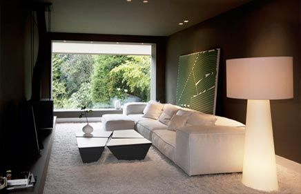 Herenhuis met moderne interieur inrichting huizen binnen for Binnen interieur