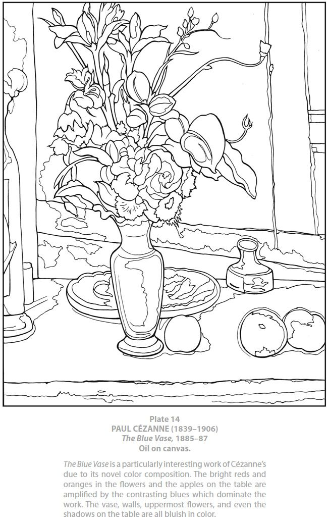 Welcome To Dover Publications Masterworks Color Your Own Cezanne Paintings