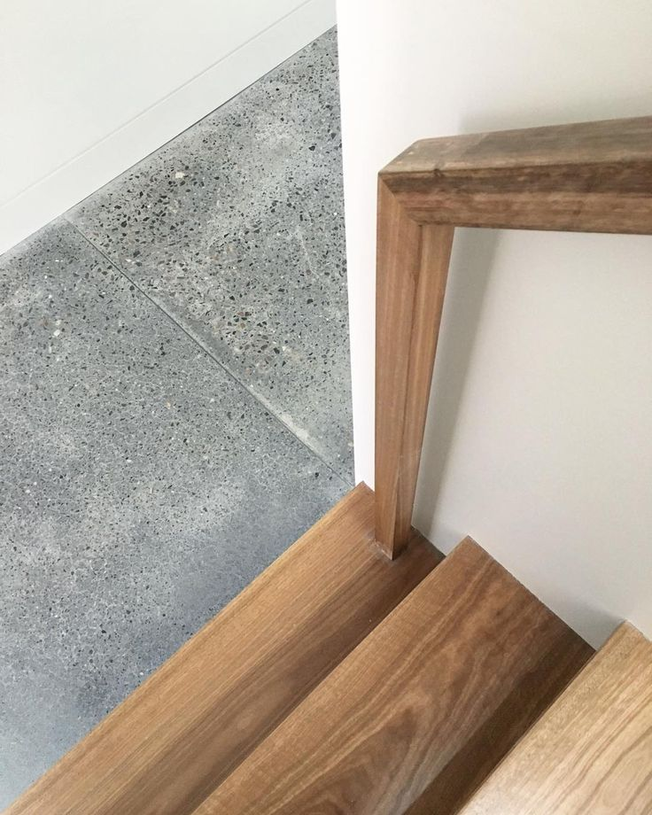We love the combination of the spotted gum stair and polished concrete floors at the Woollhara Terrace. #architecture #interiors #residential #design #polishedconcrete #spottedgum #timber #house #home #woollhara #sydneyhome #texture