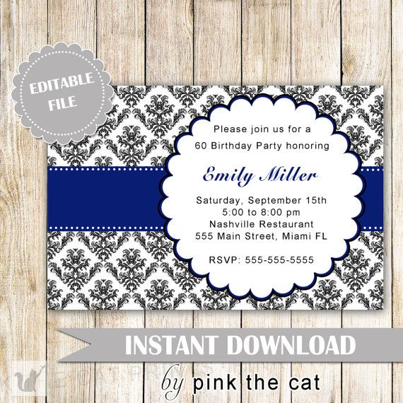 Best Birthday Invites For Mom Images On Pinterest Invitations - Editable birthday invitations for adults