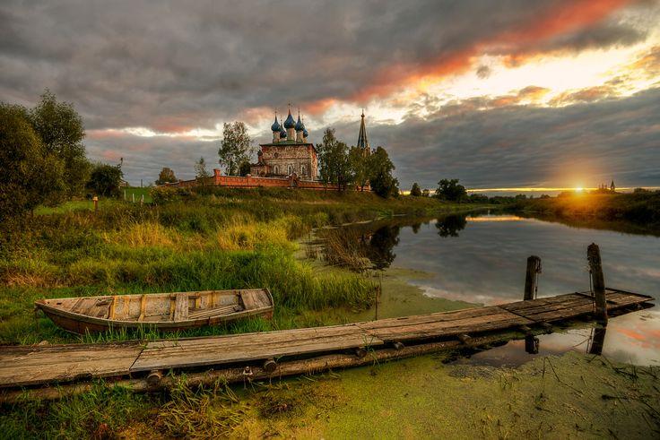 на закате.. - Осень село Дунилово