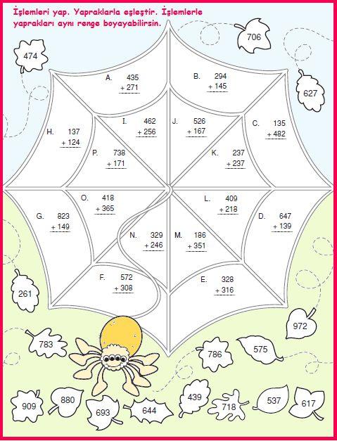 ilkokul ödevleri: 3. sınıf örümcek ve toplama