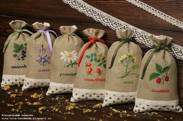 http://vita-vita-handmade.blogspot.ru/2015/10/new-pouches-for-dried-herbs.html#more
