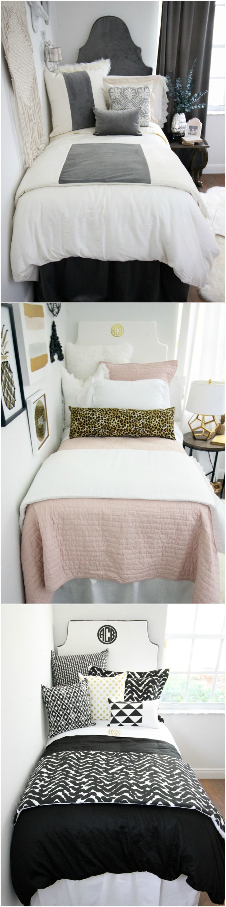 This year's hottest dorm room trends. Boho chic, classic neutrals, luxe textures and more. Shop dorm room inspiration here...
