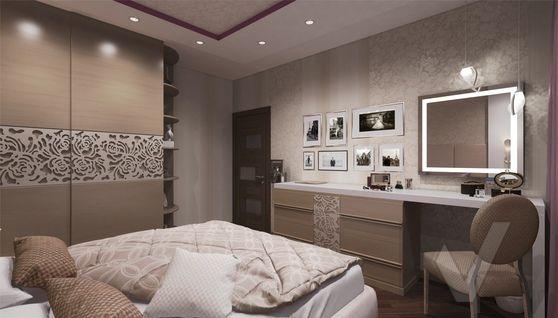 дизайн спальни в 3-комнатной квартире П-44Т - 4