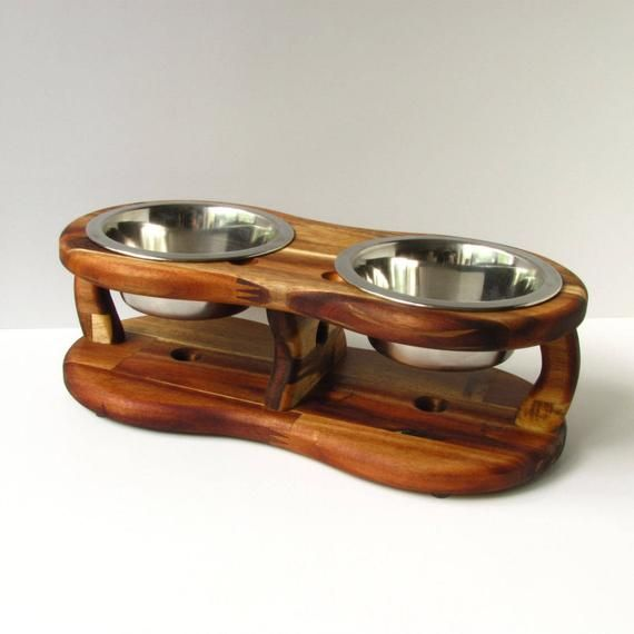 Dog Bowl Stand Acacia Tripod Ii Size S And M Dog Bowl Dish Etsy Dog Bowls Dog Bowl Stand Dog Bowl Holder
