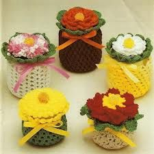 crochet jar covers - Google Search
