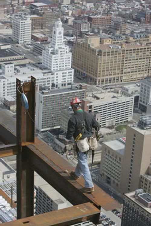 I posted this picture because I was an iron worker for several years. This type of work is is one of the most dangerous jobs you can have. Im proud that at one time I help build America. There are only a select few that pack the gear to do this type of job , so I ' am one of those men that walked iron and can say I have done it. That was one of my goals in life and I was successful. Hats off to the men and women that walk where knowone else dares. Swing it.