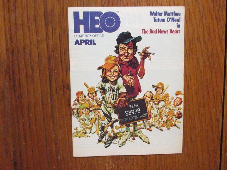 April-1978 HBO Home Box Office TV Magazine (THE  BAD  NEWS  BEARS/TATUM  O'NEAL) | Entertainment Memorabilia, Television Memorabilia, Merchandise & Promotional | eBay!
