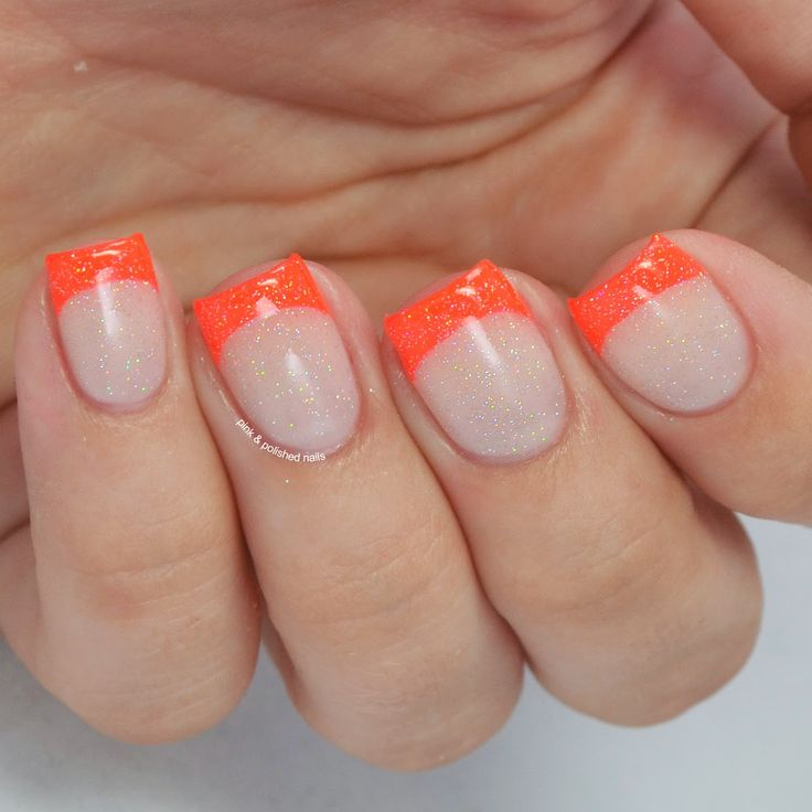 Neon French Manicure with China Glaze Pool Party - Pink & Polished