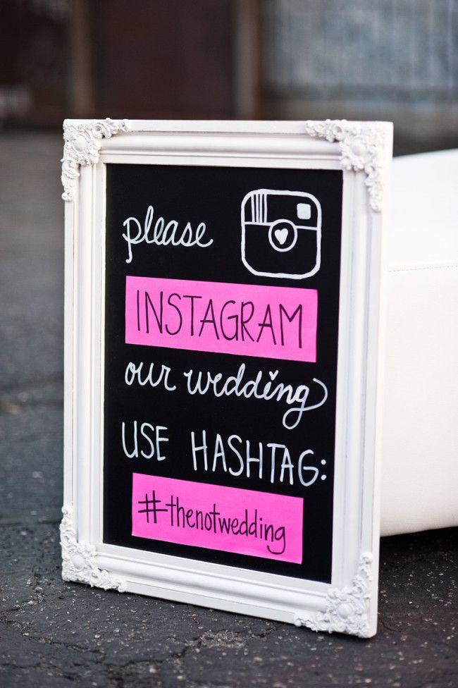 framed instagram photo for #thenotwedding