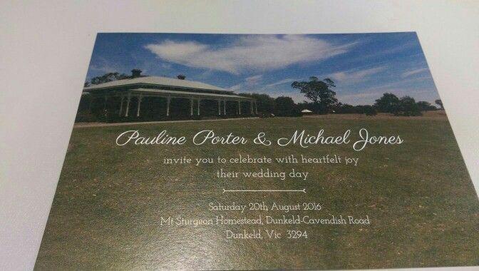 Wedding invitation, front