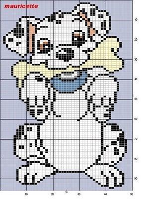 101 Dalmations cross stitch pattern