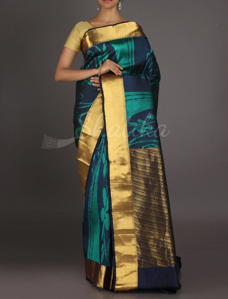 Ramya Modern Designed Gold Border Pallu #ArniSilkSaree