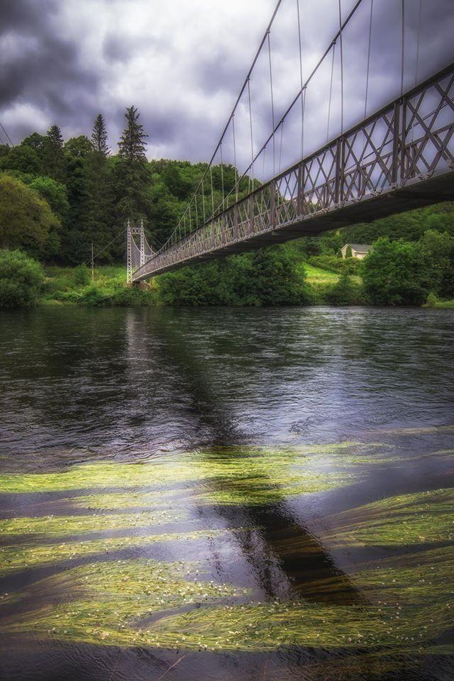 Penny Bridge above River Spey, Scotland