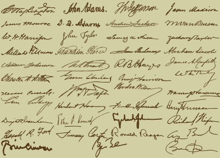 Presidential signatures | handwriting/ Graphology/signatures ...