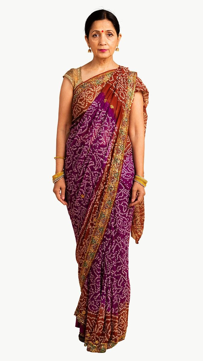 Download Premium Png Of Indian Woman In A Traditional Saree Mockup 2328477