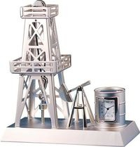 Oil Rig Miniature Clock
