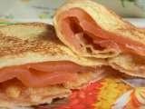 Ricetta Bliny (crepes) con salmone affumicato, Molto facile, Portata principale