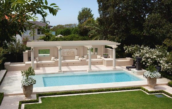 Garden Pool Ideas Pergola Roman Style Decor Pool Design Roman Pool Designs Pool House Interiors Swimming Pool Designs