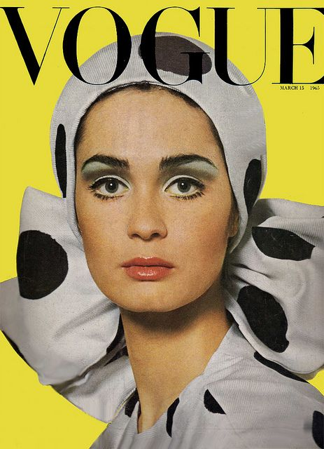Marie Lise Gres - Vogue UK March 1965 by Henry Clarke (Hat dress by Hardy Amies)